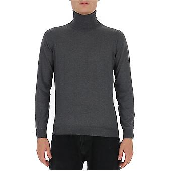 Laneus S2302cc27gr Men's Grey Silk Sweater