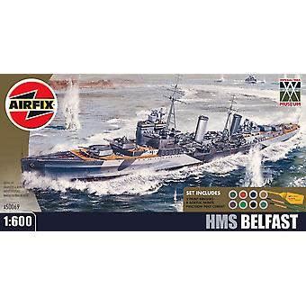 Airfix 1:600 Αυτοκρατορικό Πολεμικό Μουσείο HMS Μπέλφαστ Κλίμακα Πολεμικό Πλοίο