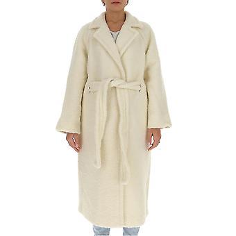 Ganni F5269135 Femme-apos;s Manteau de laine blanche