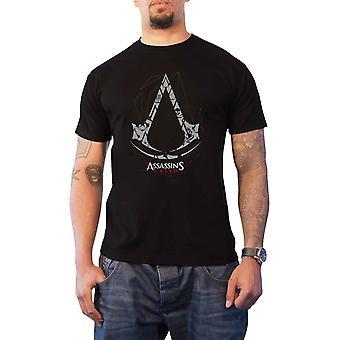 Assassins Creed T Skjorte Klassisk Crest Logo ny Offisiell Gamer Menns Svart