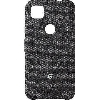 Couverture officielle de cas de tissu de Google Pixel 4a - Fondamentalement noir (GA02056)