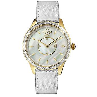 GV2-kehittäjä: Gevril 11702-525L Womens Siena Swiss Quartz Genuine Leather Diamond Watch