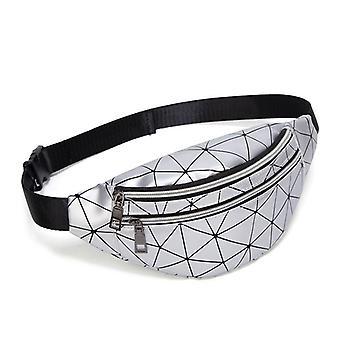 New Waterproof Laser Belt Sports Bag, Pu Leather Crossbody Shoulder Bag