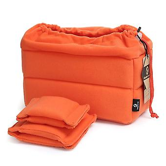 Koolertron padded shockproof foldable partition camera insert protective bag for sony canon nikon ds