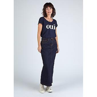 Ophelia organic denim maxi skirt - indigo