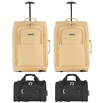 Pinel cabin suitcase 55x40x20cm & holdall 35x29x20cm x 2