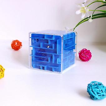 Maze Cube Toy Game For, Metal Ball, Educational Brain Learning Puzzle, Adults,