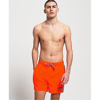 Dark orange swim shorts