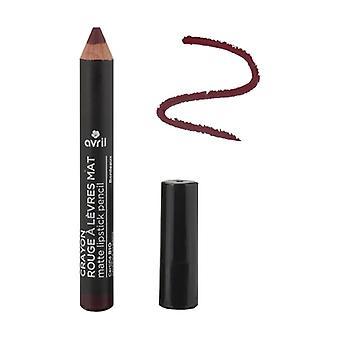Matt leppestift blyant Bordeaux Sertifisert organisk 1 enhet