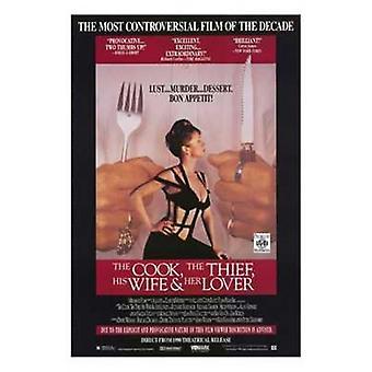 Stek tyven, hans kone og hennes elsker film plakat (11 x 17)
