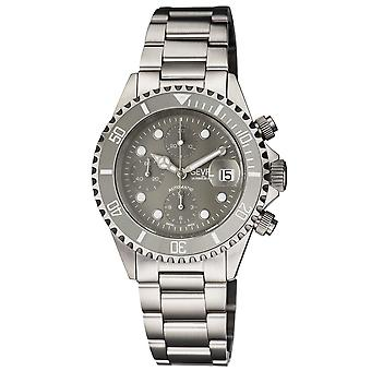 Gevril Men's Wall Street Stainless Steel Bracelet Watch