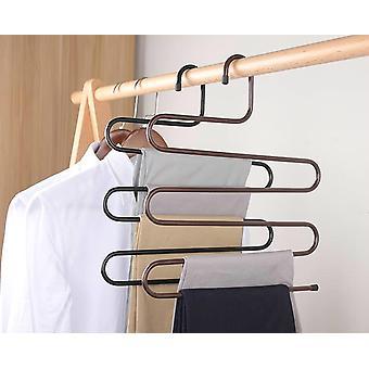 Clothes Hangers S Shape Pants Storage Hangers Clothes Storage Rack Multilayer Storage Cloth Hanger