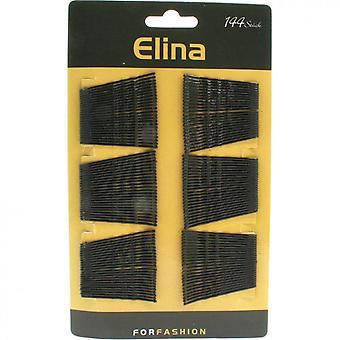 Horquillas / Alfileres de pelo en metal paquete de 144 (negro)