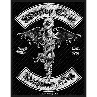 Motley Crue Patch Hollywood Band Logo new Official Woven (10cm x 10cm)