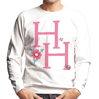 Holly Hobbie Initialen mit einer Blume Männer's Sweatshirt