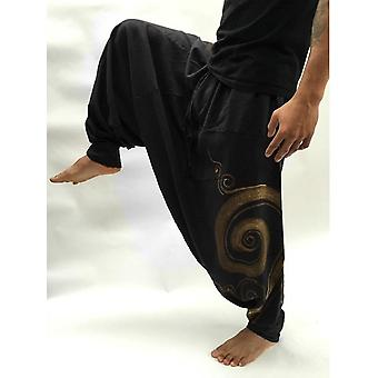 Men's Casual Elastic Waist Baggy Hippie Yoga Harem Pants, Aladdin Hippie Boho