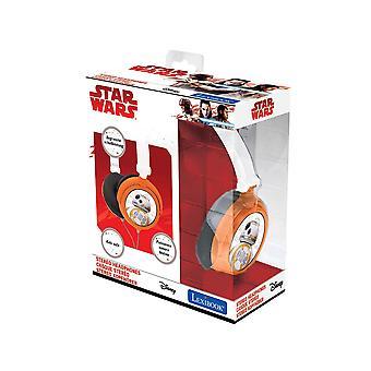 Lexibook star wars rey poe finn bb-8 stereo headphone, kids safe foldable and adjustable, black/whit
