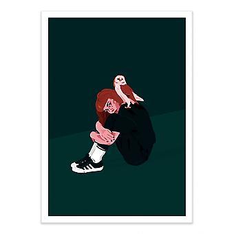 Art-Poster - Nachtvogel - Ana Ariane