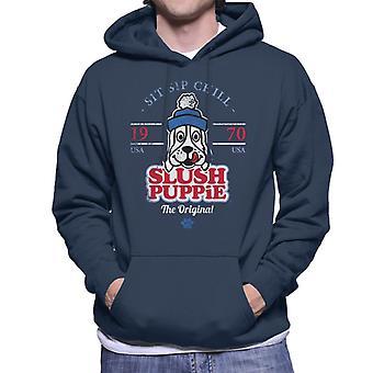 Slush Puppie Retro Sit Sip Chill Män's Hooded Sweatshirt