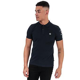Män & apos;s Henri Lloyd Cotton Piquet Patch Polo Skjorta i blått