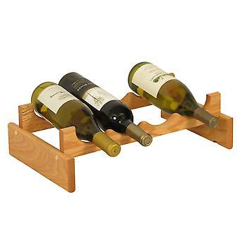Mazo de Madera 4 Botella Dakota Wine Rack, Roble Ligero