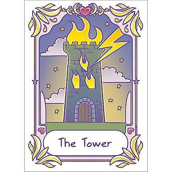 Deadly Tarot Kawaii The Tower Poster