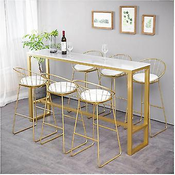 Furniture Nordic High Table Modern Simplicity Marble Bar Table