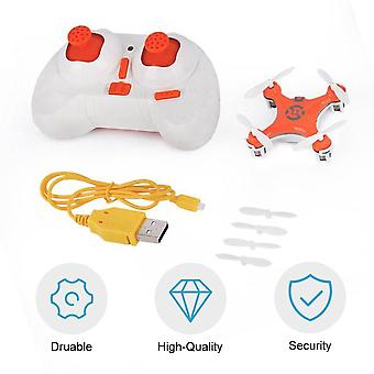 Drone Helicopter Radio Aircraft Headless Mode Drone Quadcopter (orange)
