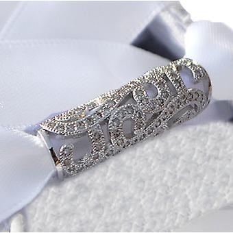 Sølv Swirl Tube sko charme