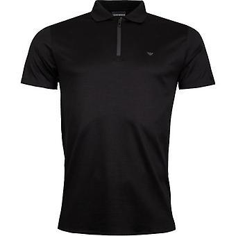Emporio Armani Zip Neck Polo Shirt