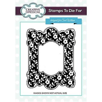 Creative Expressions Silhouette Blooms Pre Cut Stamp