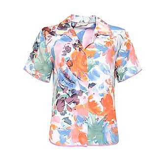 Cyberjammies Aimee 4824 Women's White Mix Floral Modal Pyjama Top