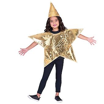 Amscan 9904079 tabard stella d'oro bambino, 2 pezzi