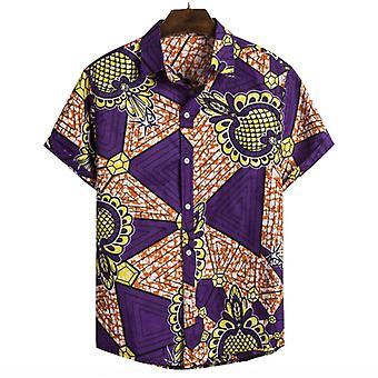 Men's نمط العرقية قميص الطباعة