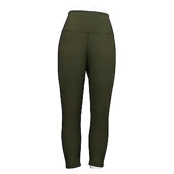 Vrouwen met Control Petite Leggings Omkeerbaar Geen Zijnaad Groen A384087