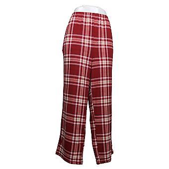 Carole Hochman Women's Petite Marshmallow Jersey Pajama Pants Red A381877