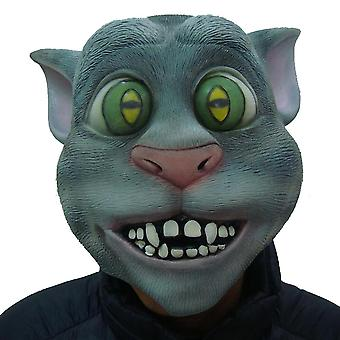Latex praten Tom Cat Masker Hoofddeksels Cosplay Funny Party Halloween Rekwisieten