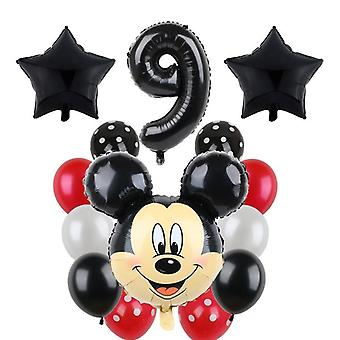 Mickey Minnie Mouse Party Balloons, Mickey Birthday Baby Kids Party