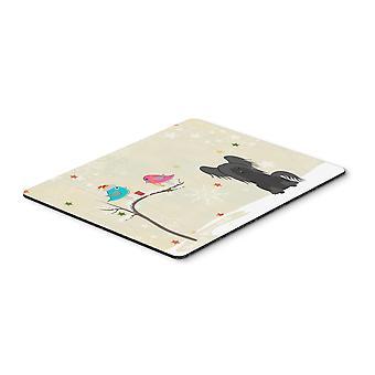 Caroline'S Schätze Weihnachtsgeschenke, chinesische Crested black Mouse Pad, Multicolor, 7.75X9.25 (Bb2584Mp)