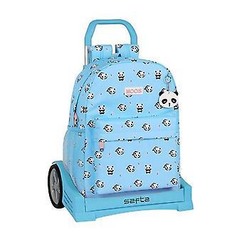 Sac à dos scolaire avec roues Evolution Moos Bleu clair