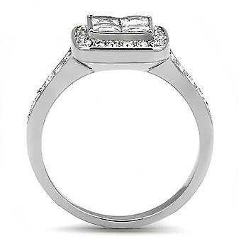 Women Stainless Steel Cubic Zirconia Rings