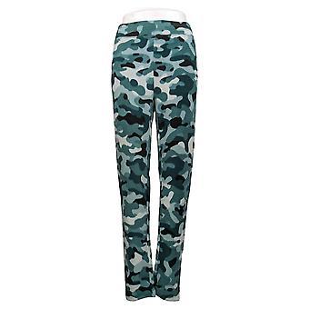 Cuddl Duds Women's Pants Fleecewear Stretch Leggings Green A369295