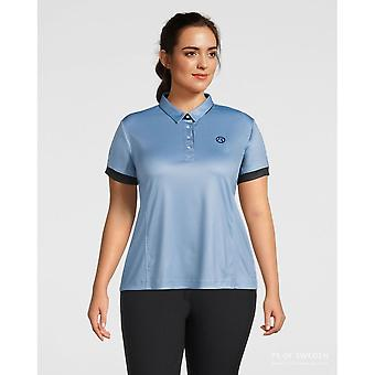 PS of Sweden Ps Of Sweden Curvy Ella Womens Polo Shirt - Faded Denim