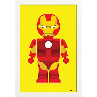 JUNIQE Print - Iron Man Toy - Iron Man Poster in Geel & Rood