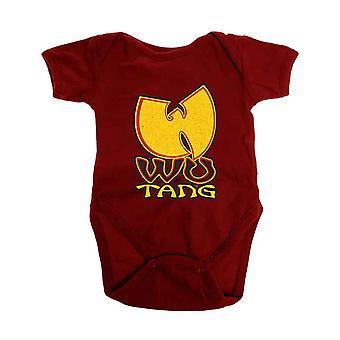 Wu Tang Clan Baby Grow Wu-Tang Logo uusi virallinen punainen 0-24 kuukautta