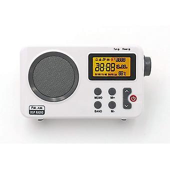 FengChun Radio -AB1904 FM / AM - Küchenradio Tragbares Desktop-Radio, LCD-Bildschirm mit Licht,