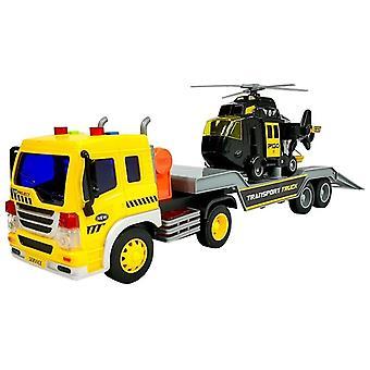 Speelgoed sleepwagen & Helikopter – Geel Zwart