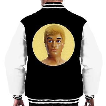 Action Man Blonde 70s Men's Varsity Jacket