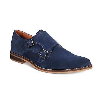 Alfani Men?s Jacob Suede Monk-Strap Dress Shoes (Grey, 9 M)