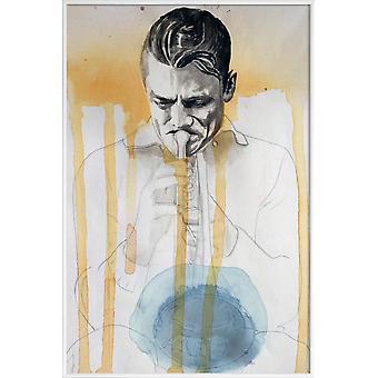 JUNIQE Print - Chet Baker - Jazz Plakat i gult &gråt